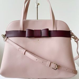 Kate Spade Saffiano Leather Bag Satchel Pink Bow